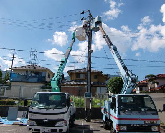 県立広島北特別支援学校太陽光発電設備設置2