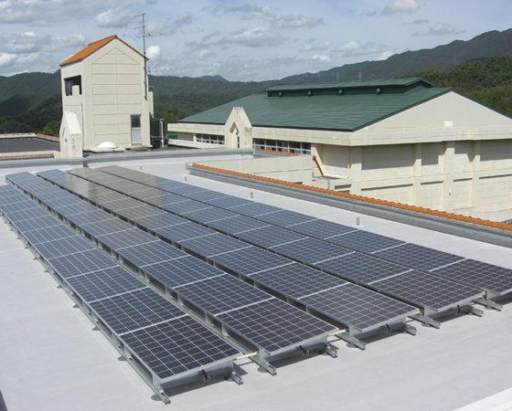 県立広島北特別支援学校太陽光発電設備設置7