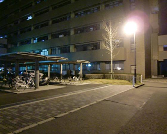 広島大学(東広島)駐輪場外灯新設