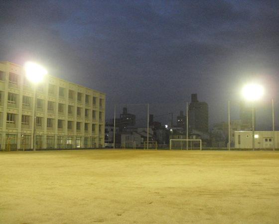 段原中学校運動場照明新設